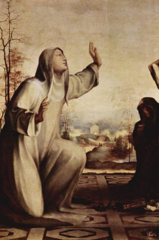 Saint Catherine of Siena: she is, along with Saint Francis of Assisi, the holy patron protector of Italy.