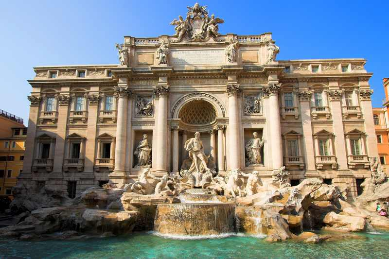 The Baroque fountains of Rome: Fontana di Trevi