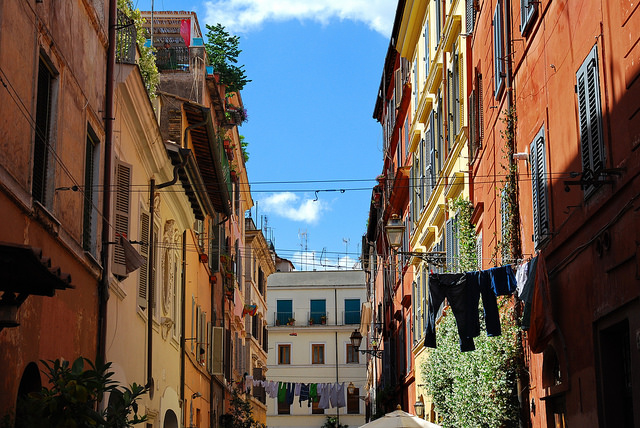 A typical view of Trastevere