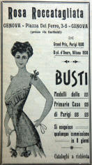 classic 1908 advertisement for the first bras