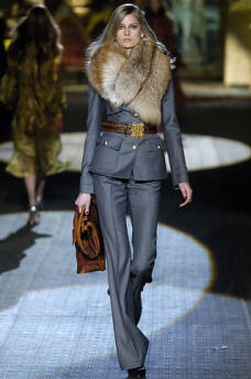 Cavalli Blue Fur Collar