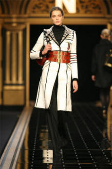 Fendi black and white military jacket