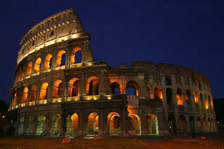 Roma-Colosseum. The town centre of Rome is a Unesco World Heritage Site