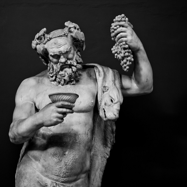 Dyonisius, god of vine harvesting and wine making