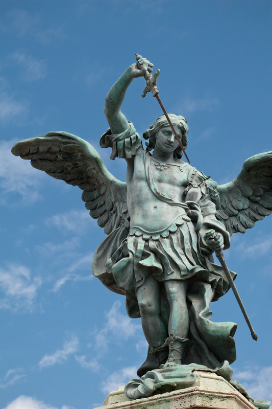 Rome - Castel Sant'Angelo - Particular of the Angel