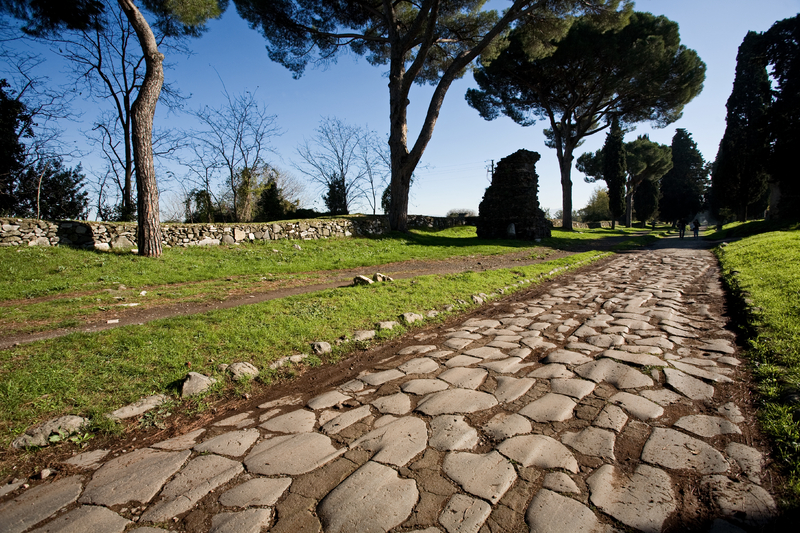 Ancient pavement of the Appian Way