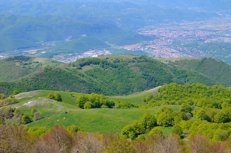 Rieti seen from Mount Terminillo