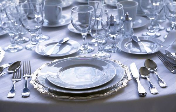 Italian Eating Rules: Formal Plates Setting