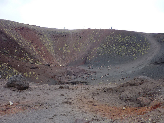 A moon-like scenery on near the summit of Mount Etna