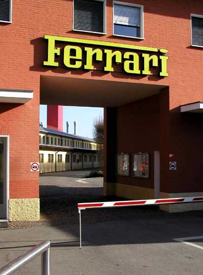 The Front Gate at Ferrari Factory