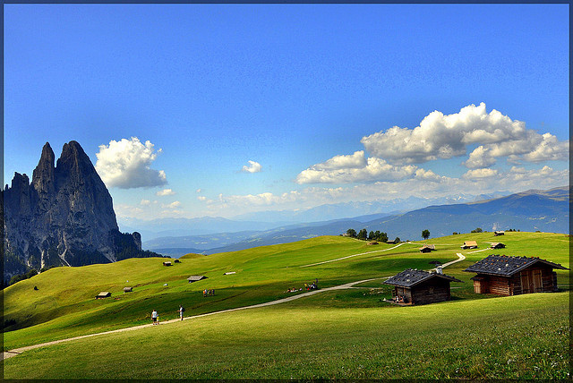 Italy in August is also the beauty of the Dolomites