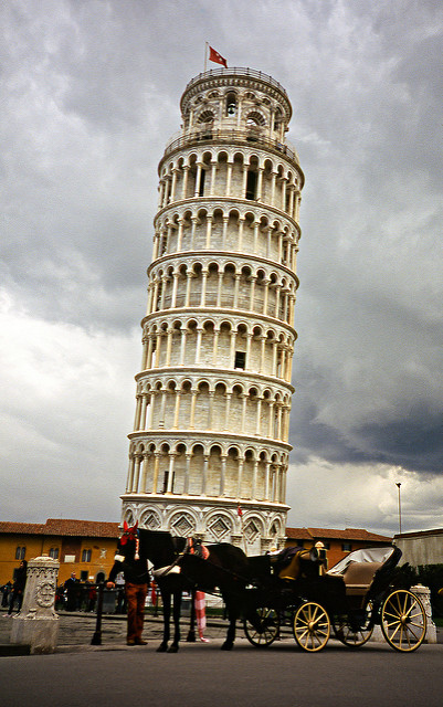 The leaning tower of Pisa in all its beauty