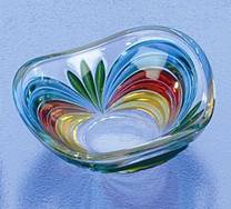 murano serving glass dish