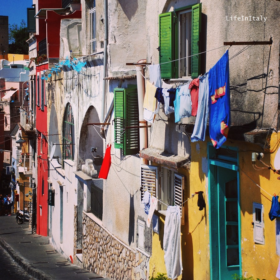 Walking along the streets of Procida