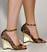 Italian womens wild sexy shoes leapord