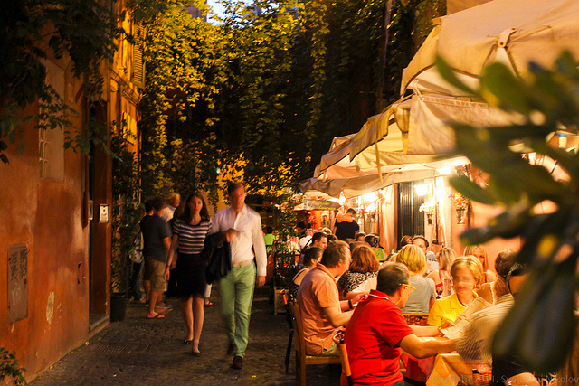 Trastevere is one of the liveliest areas of Rome