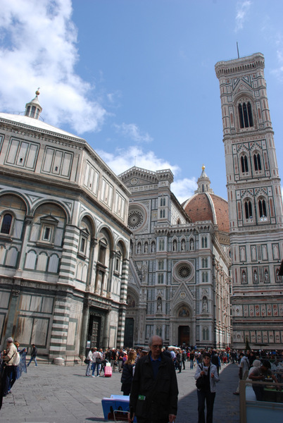 Cathedral, baptistery and bell tower in Florence