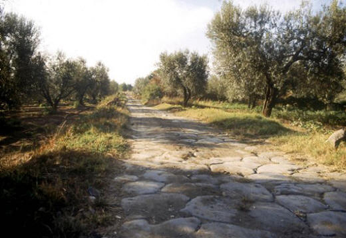 A small part of the Via Francigena route used by the pilgrims
