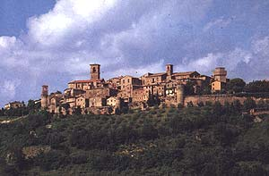 View of Collazzone, Umbria