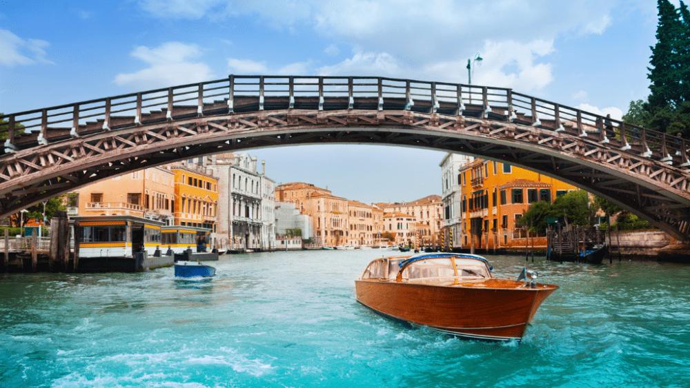 Venice accademia bridge museum