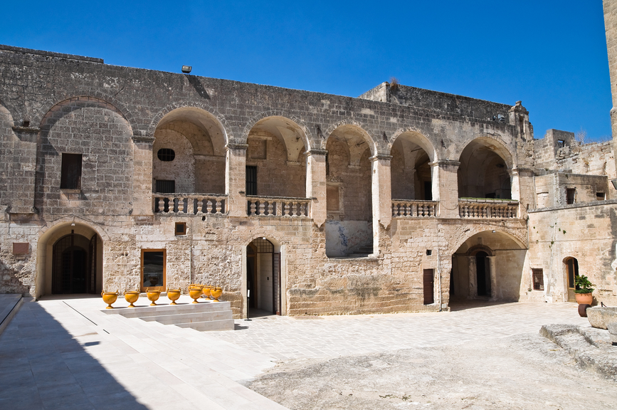 episcopio castle in grottaglie, puglia