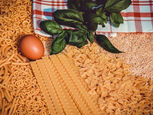 Venetian style pasta, rice and polenta