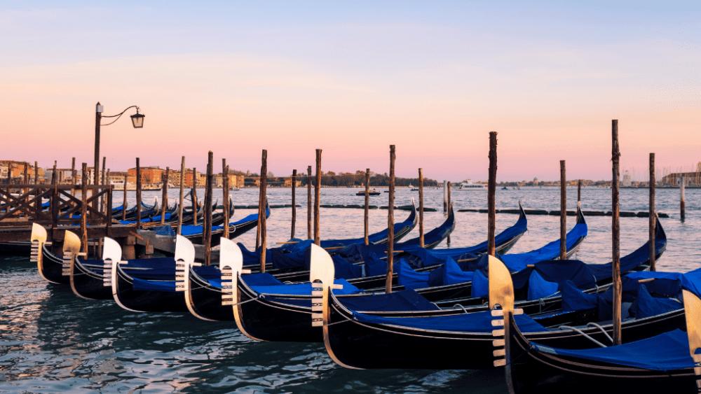 saint mark venice gondolas sea