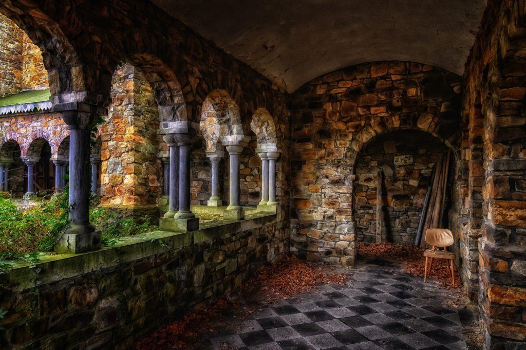 Abandoned monastery cluster
