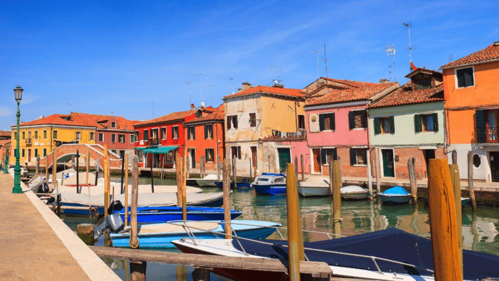 Murano houses venice lagoon