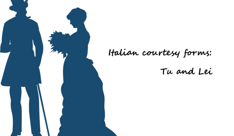 italian courtesy forms tu and lei
