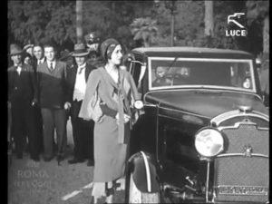 Car in Rome in the 1930s