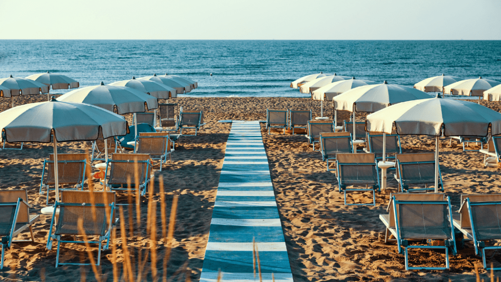 Jesolo lido beach Veneto Italy region summer