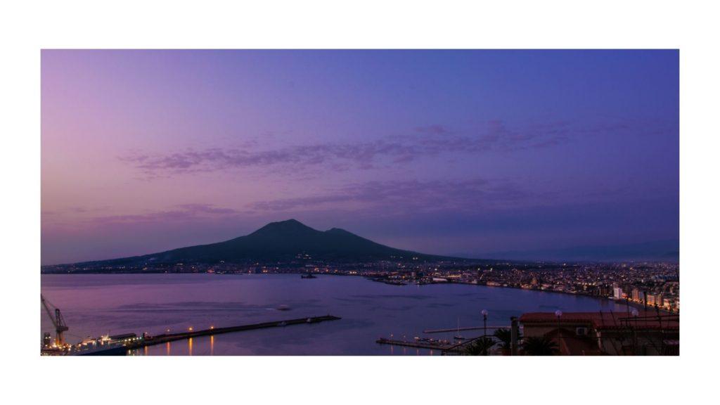 Parco Nazionale del Vesuvio durante il tramonto