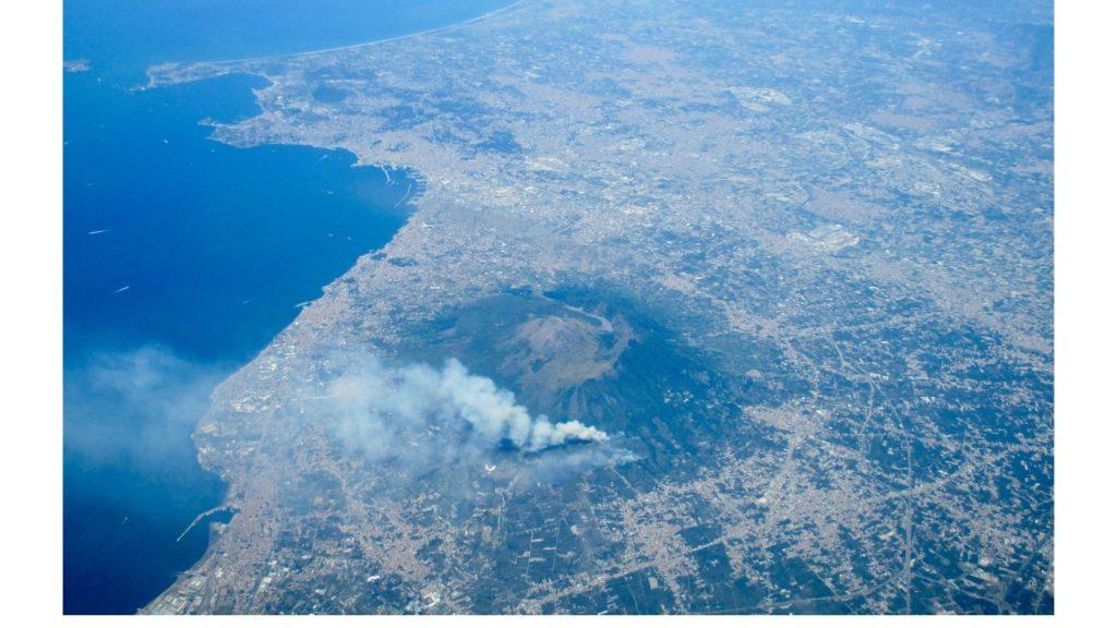 Parco Nazionale del Vesuvio dall'aereo